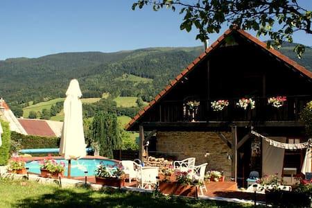 Chambre P avec jardin & piscine au coeur des Alpes - Theys - Domek gościnny