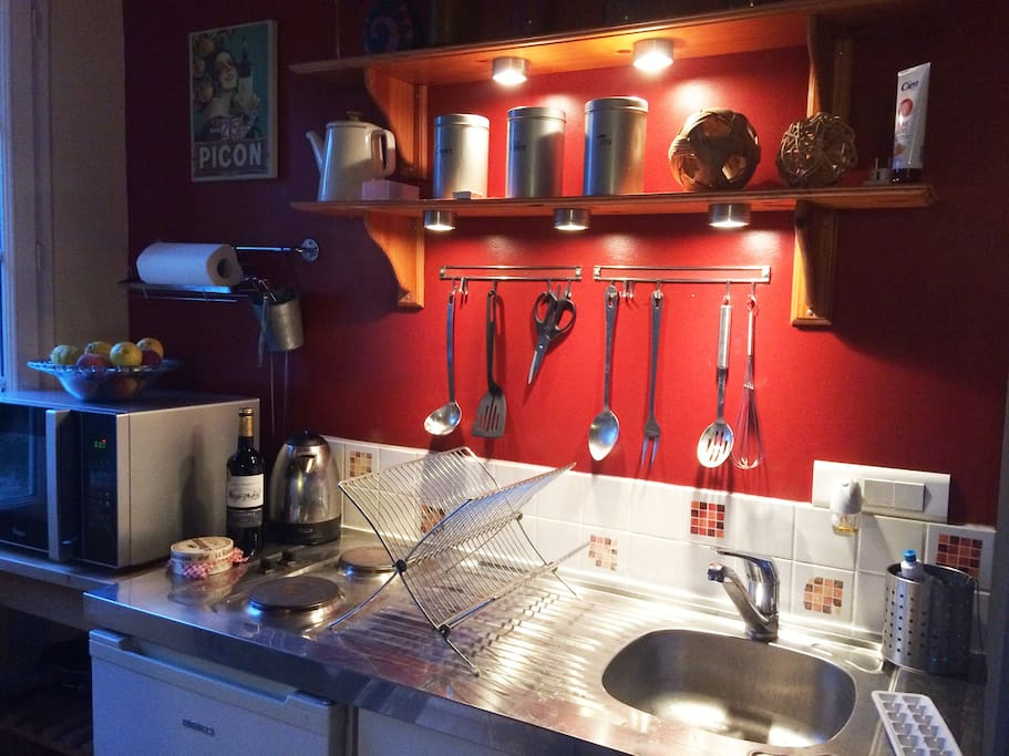 Fully equipped kitchen ready for your stay