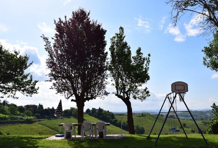 Régal parmi les vignobles UNESCO du Piémont