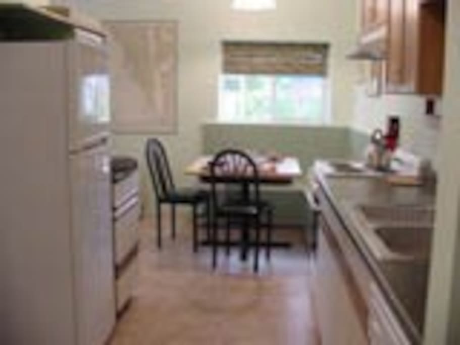 Complete kitchen with full sized appliances and a dishwasher!