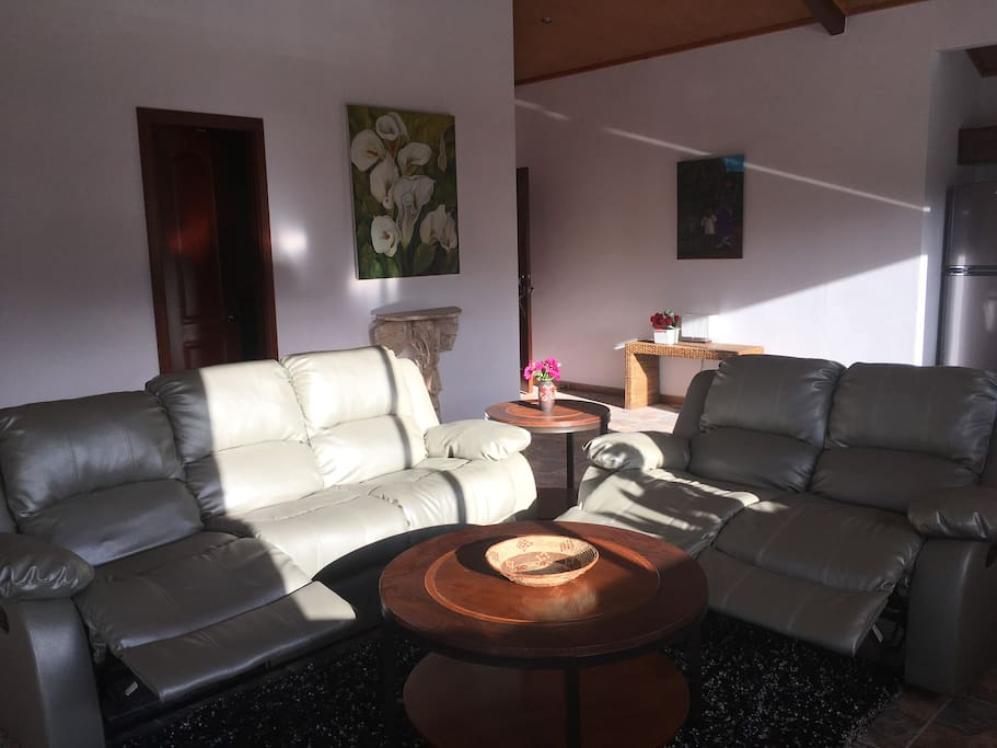 Your spacious, sunny living area.