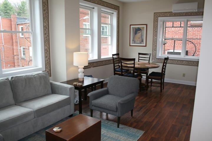 Sunny condo in historic downtown Spruce Pine