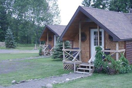 Hand Hewn Cedar Log Cabin - Edmeston - Kabin