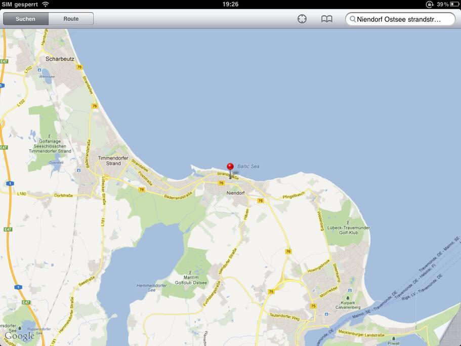 40 Meter zur Ostsee- du kannst im Bademantel zum Strand rüber gehen.