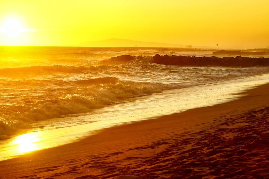 Calming waves and sunsets await you
