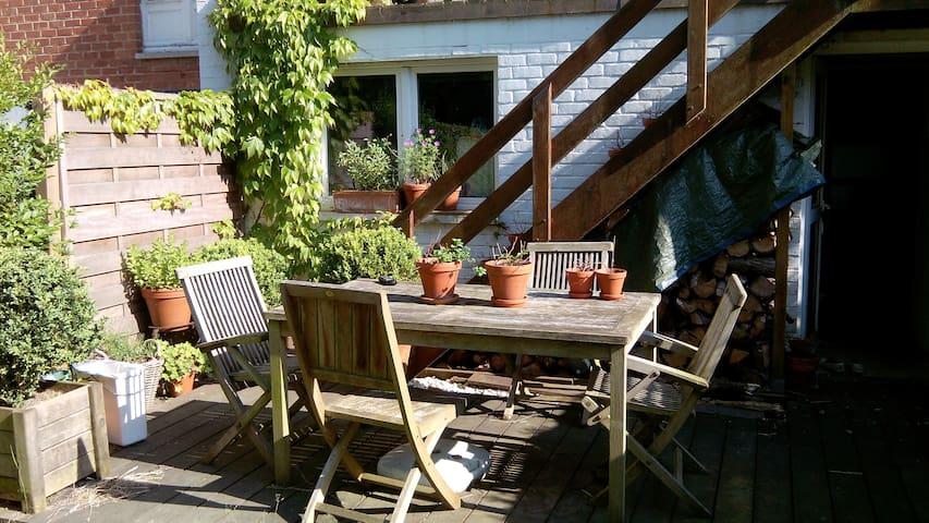 2 chambres calmes, 1 sdb, jardin - Braine-l'Alleud - 獨棟