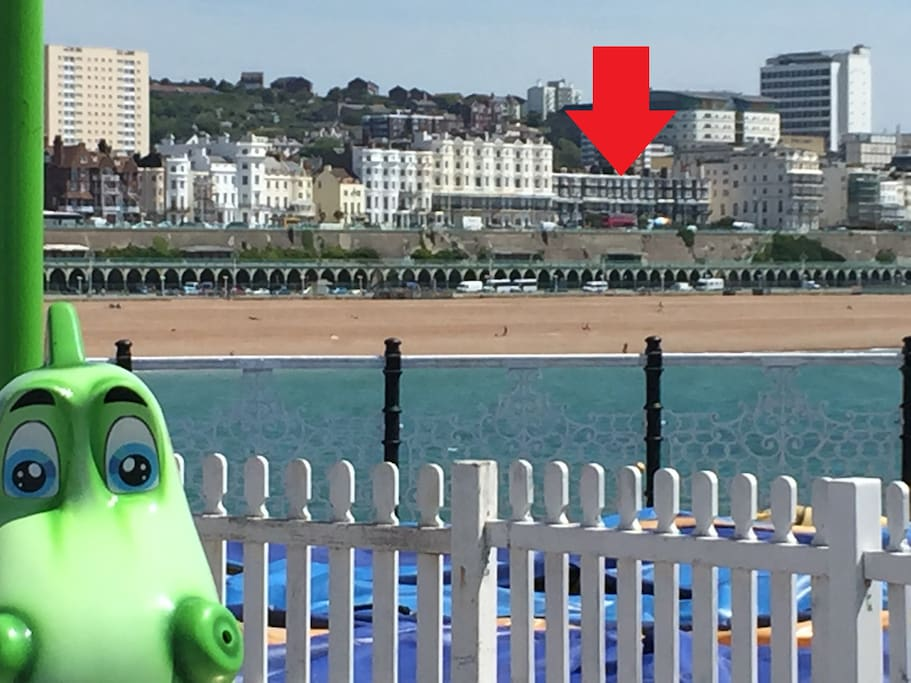 The apartment is a short hop from the pier