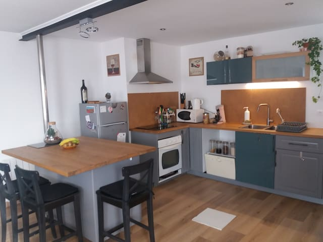 Mesquer; appartement 4 à 5 personnes avec jardin
