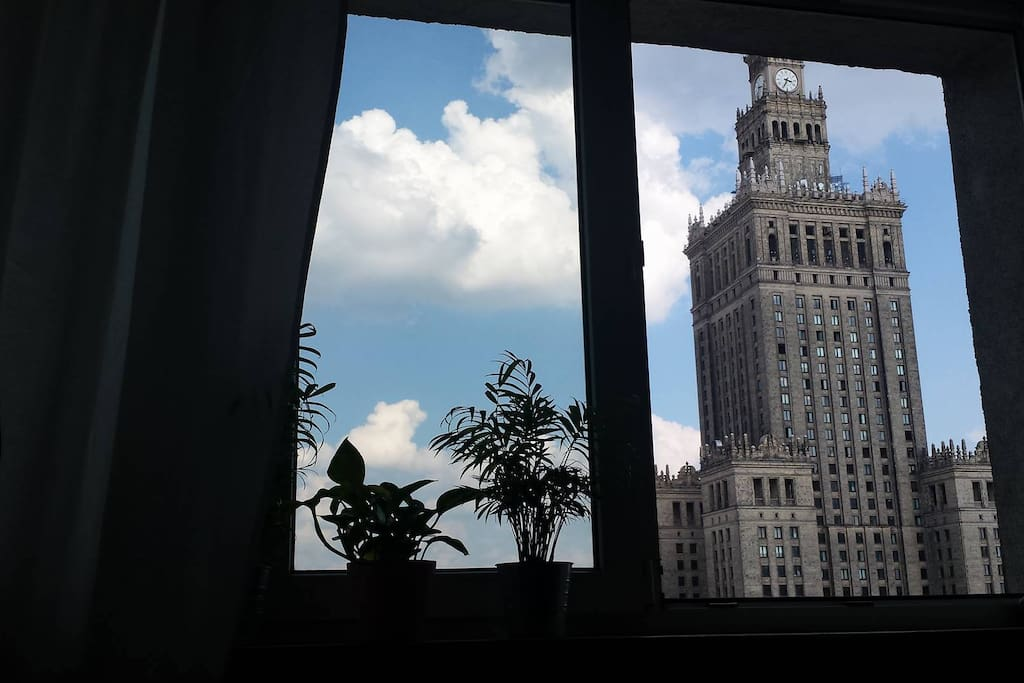 The view from living room - Palace of Culture ans Science