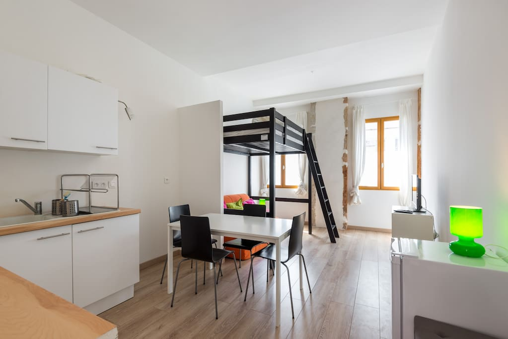 studio meubl lyon 3 pour 4 pers apartments for rent in lyon rh ne alpes france. Black Bedroom Furniture Sets. Home Design Ideas
