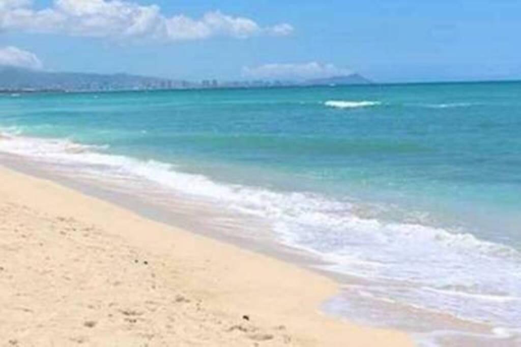 Semi-private beach walk away
