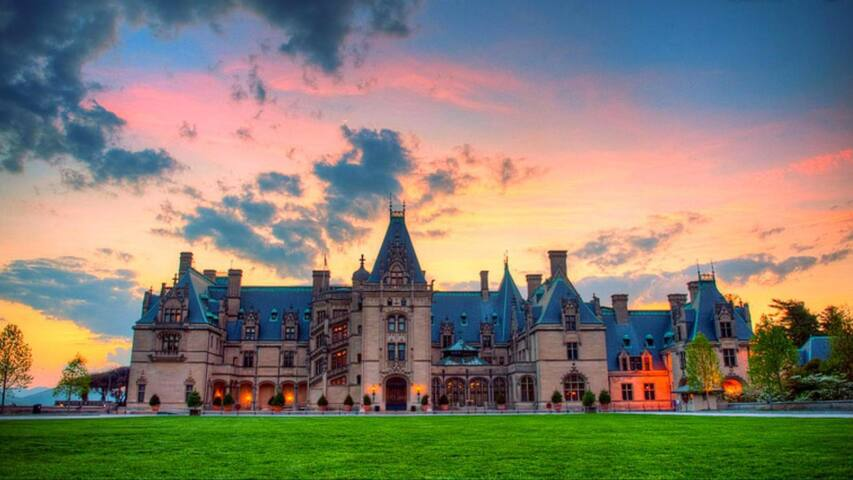 Historic Biltmore House and Winery.  23 miles from cabin.  Great day trip to Asheville.