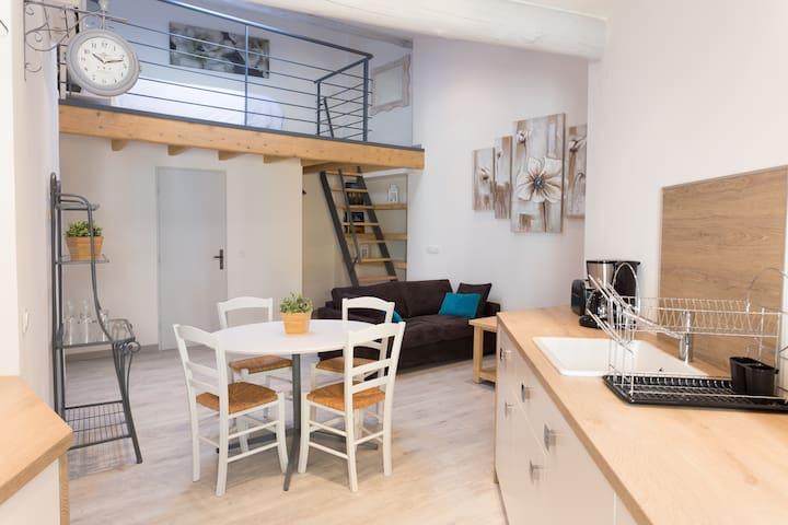 Grand Studio au Coeur de l'Isle - L'Isle-sur-la-Sorgue - Apartemen