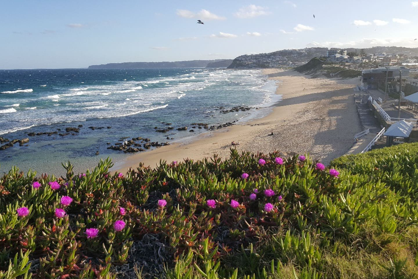 Beautiful Bar Beach. Swim, Surf, Sun. Close to everything Newcastle has to offer. Great for whale watching on the lookout.