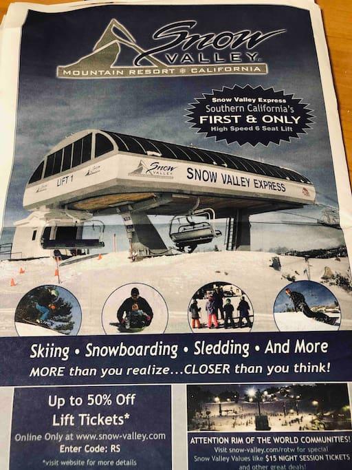 Snow Valley Up Yo 50%Off  Lift Tikets