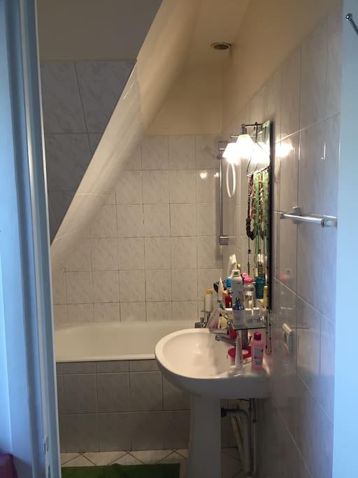 Salle de bain/ toilettes séparées