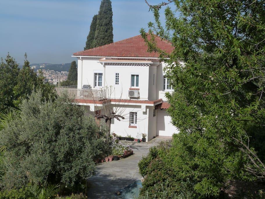 façade de la villa