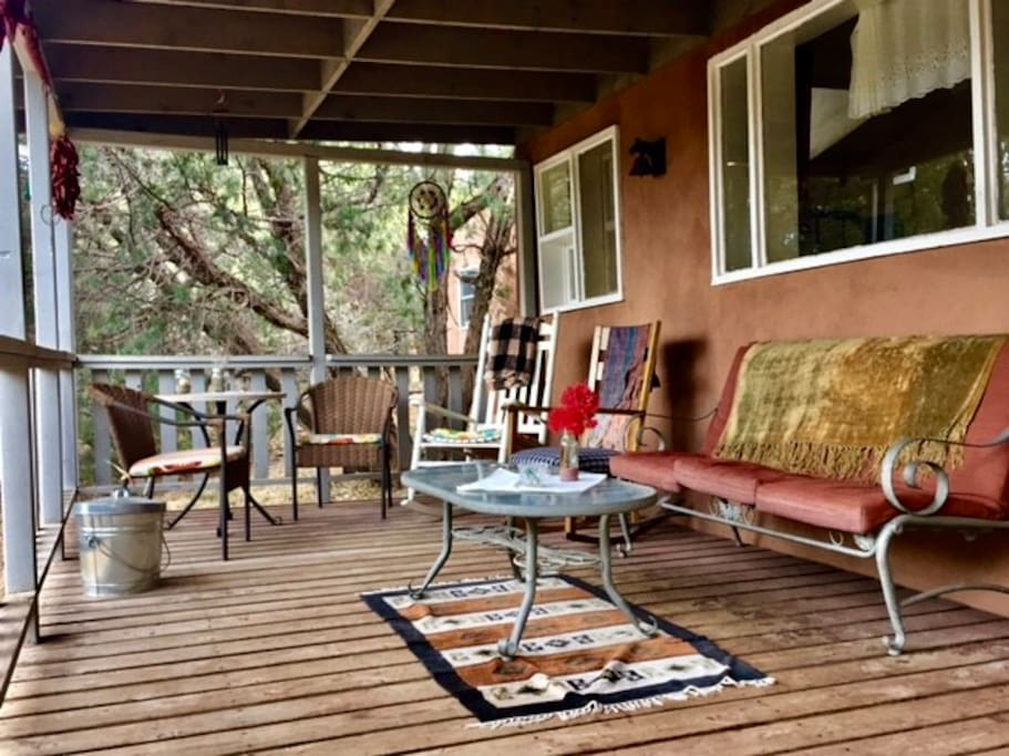 Your porch is rustic, cute, charming and spacious