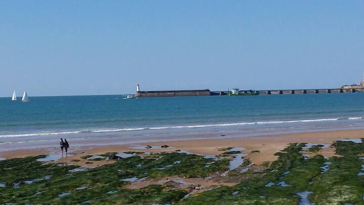 SABLES d'O, 5 p, climatisation, près de  mer/port