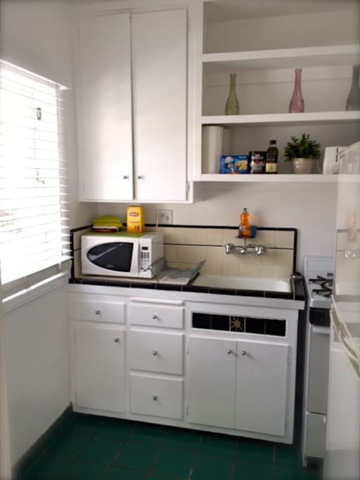KITCHEN IS EQUIPPED WITH ALL THE STANDARD APPLIANCES