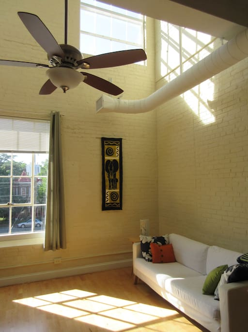 Ceiling fans and high ceilings