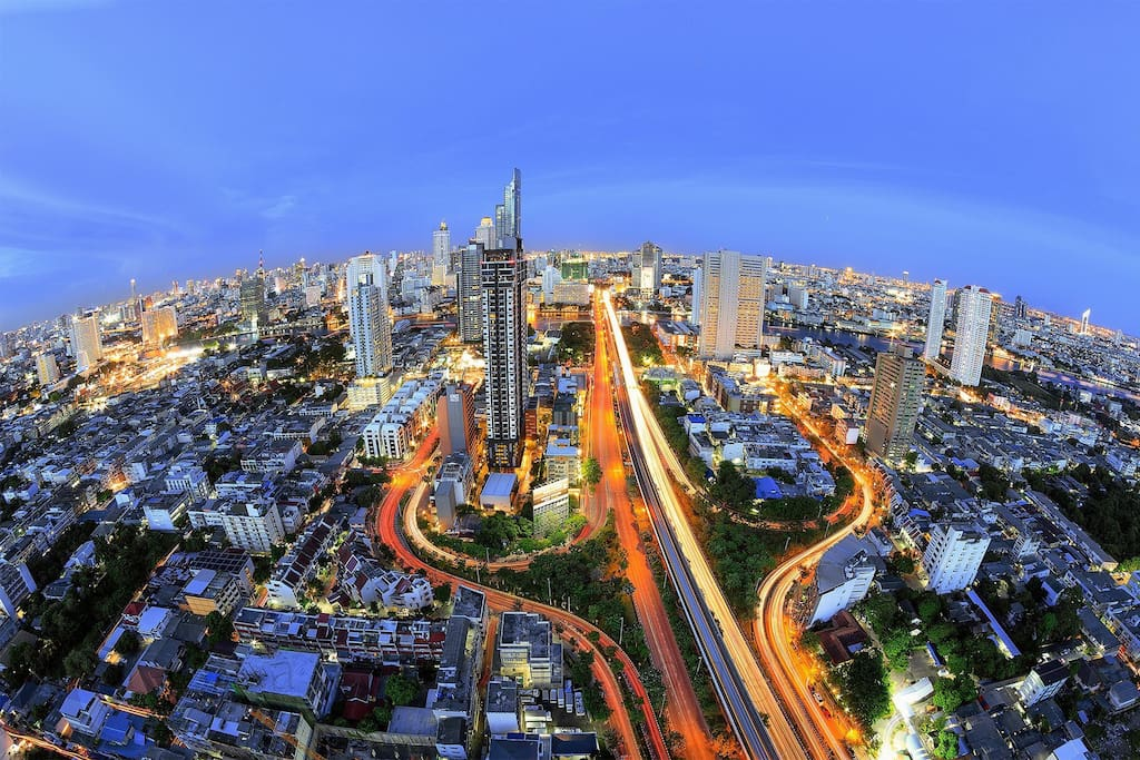 From rooftop you can enjoy One of the best view in Bangkok
