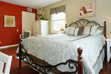 Lovely Guest Room - Walk to Train - Arlington Heights - Casa