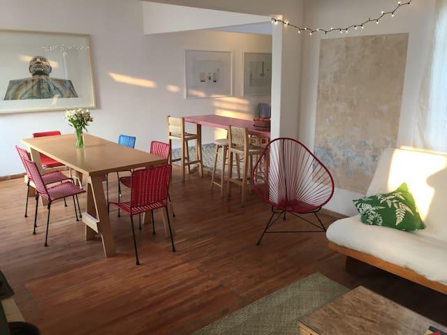 3 Bedroom Sunny & Spacious Roma Sur - Mexico City - Apartment