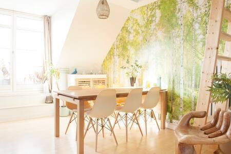 Cozy loft in loft-apartment, with skylight window - Copenhaguen