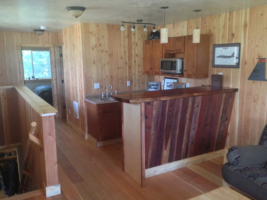 Comfortable, cozy cabin style accomodations in a private setting