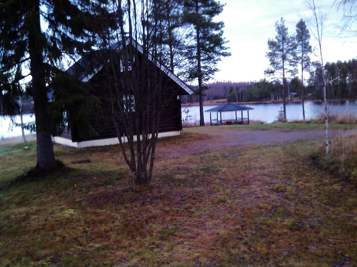 Log cabin A(33sqm) central Vuokatti,  lake scenery