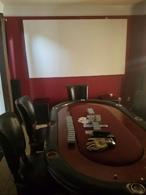 Have some fun playing poker and watching TV