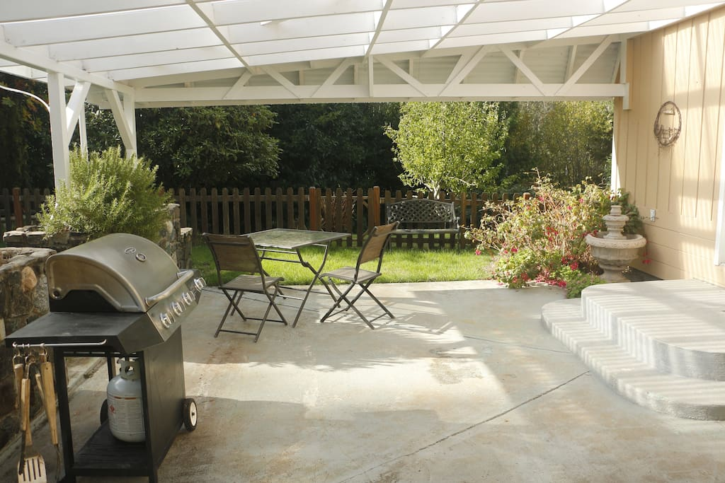 Covered Patio and barbecue