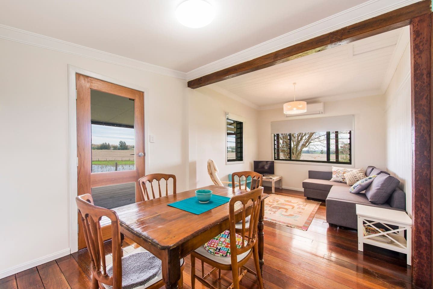 Wide verandah with relaxing views  and magnificent sunsets over the Clarence River