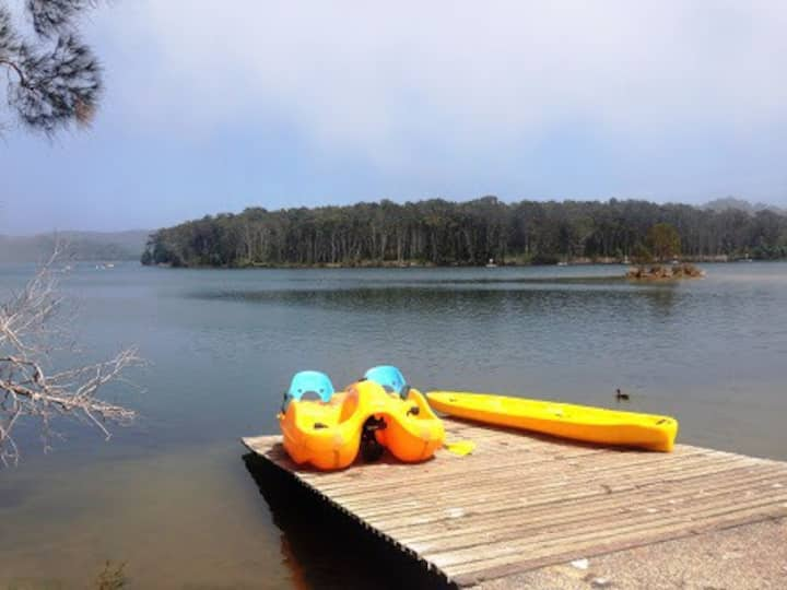 A beach break AND a lake!