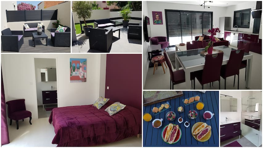 Villa Moderne de charme tout confort