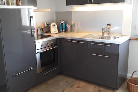 Liebevoll restaurierte Wohnung mit Rosengarten - Visp - 公寓
