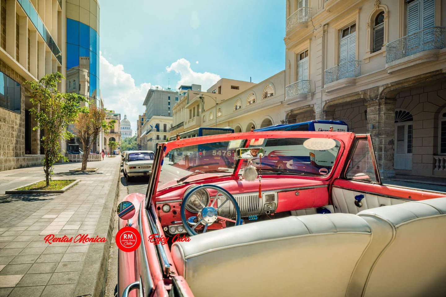Photo: Old Havana street and classic cars the perfect combo  A great number of landmarks at walking distance, look our Architecture, Prado Avenue, hotels, restaurants, bars, cafes and much more.  Turn your dream of tour in a classic car into reality.