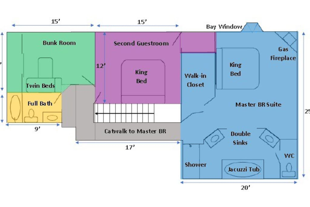 1000 total square feet of living space