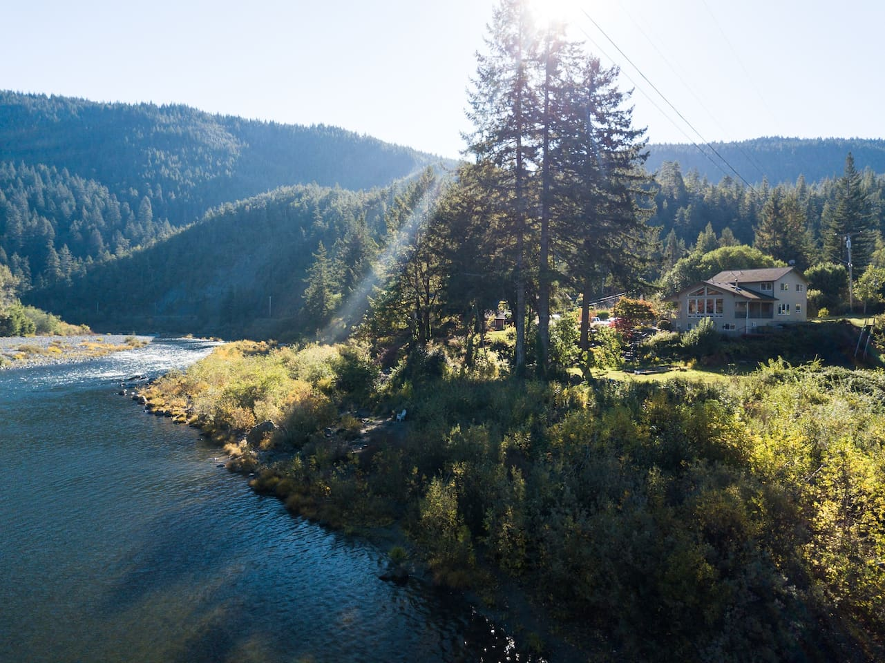 River and Redwoods Retreat Thanks for the great drone photo, Witt and Victoria! Hope to see you again soon.