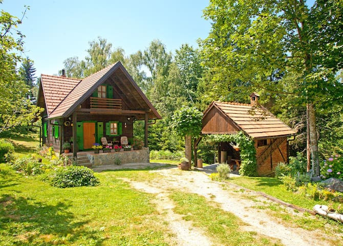 Enchanting wooden house in the countryside - Skrad - Rumah