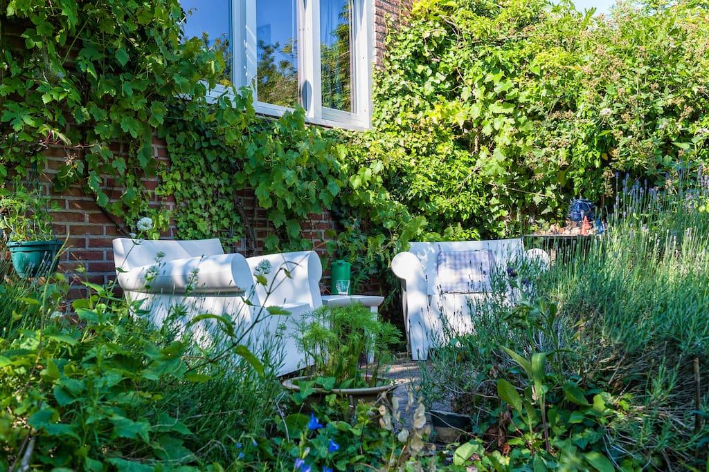 Private garden house near centre