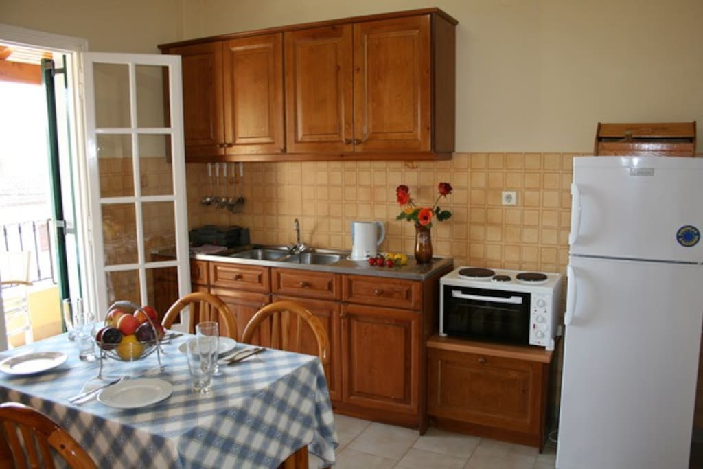 Dimitris apartments fully equipped kitchen