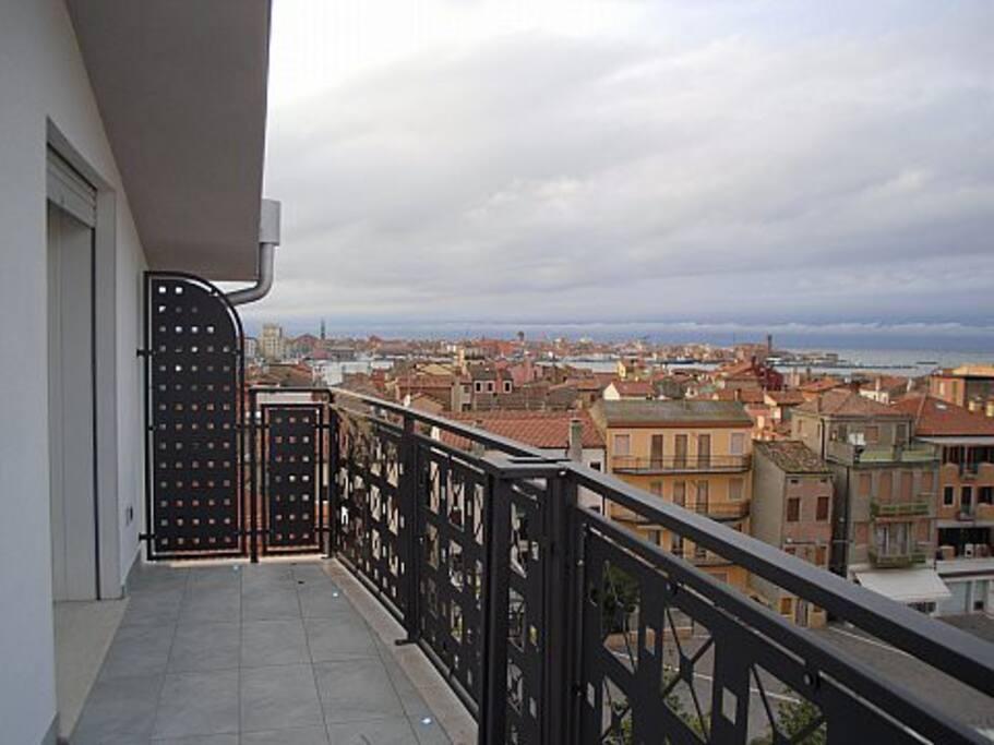 Vista panoramica centro storico Chioggia