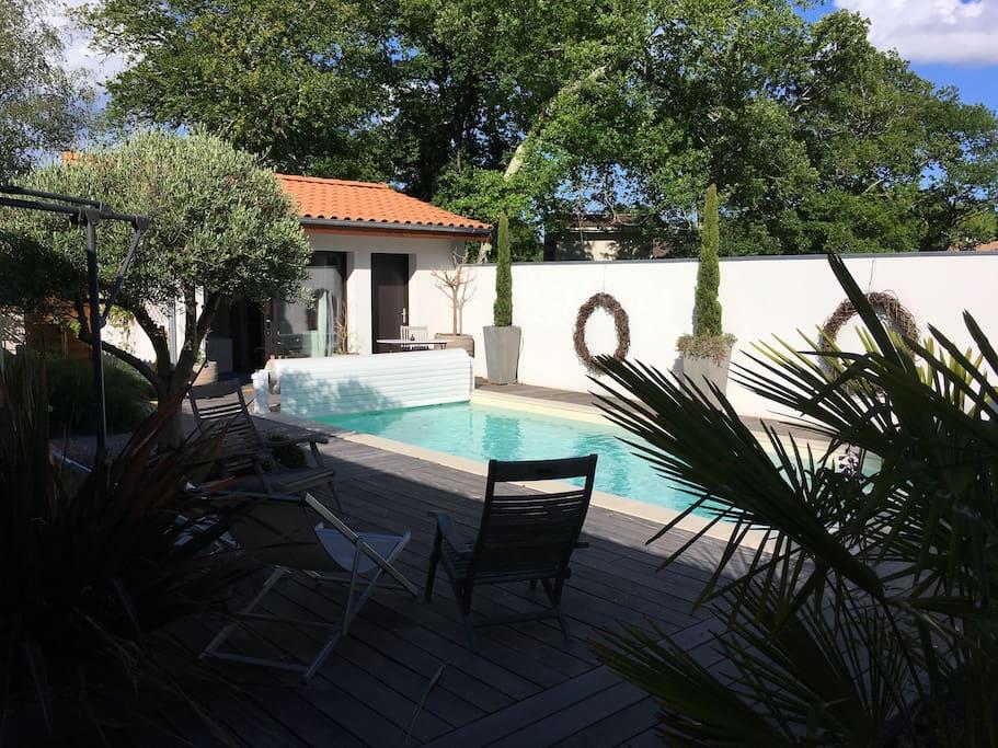Chambre d 39 h te avec sdb priv e proche de bordeaux - Terrasse jardin botanique montreal poitiers ...