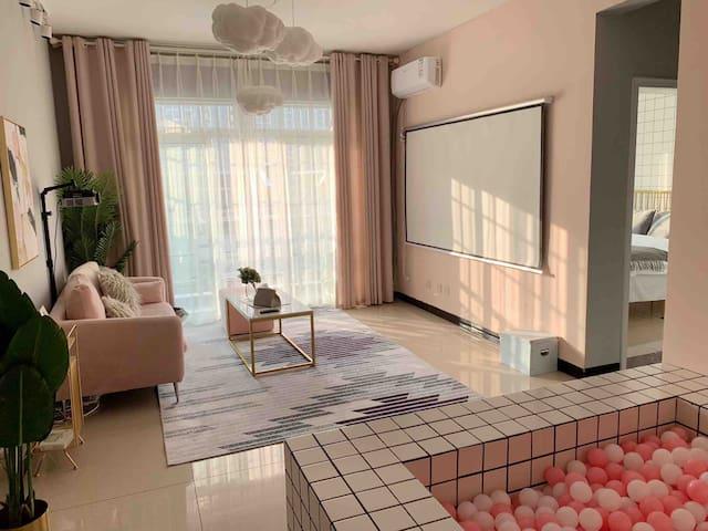 【蘑菇家2.1】近张公桥美食街/已更换极米投影仪/粉色少女心