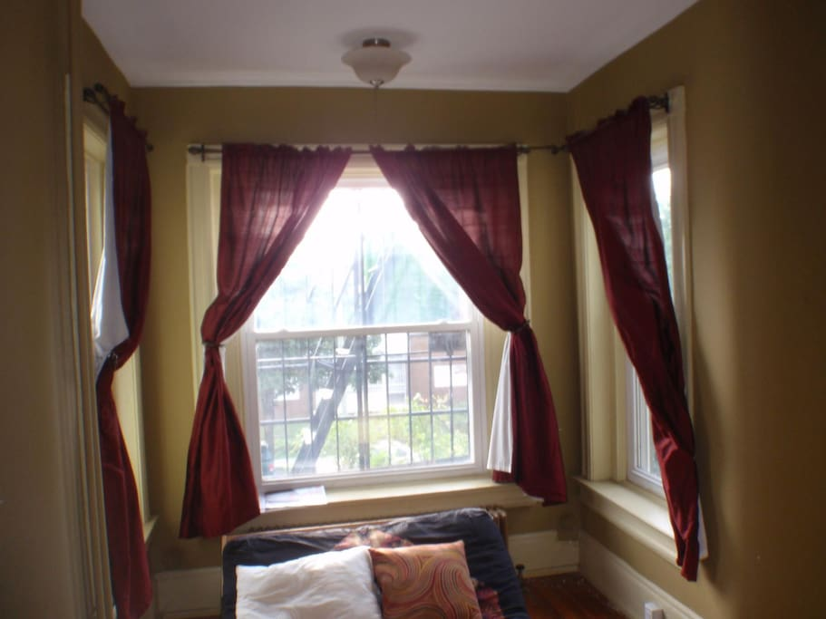 Large window in the nook.