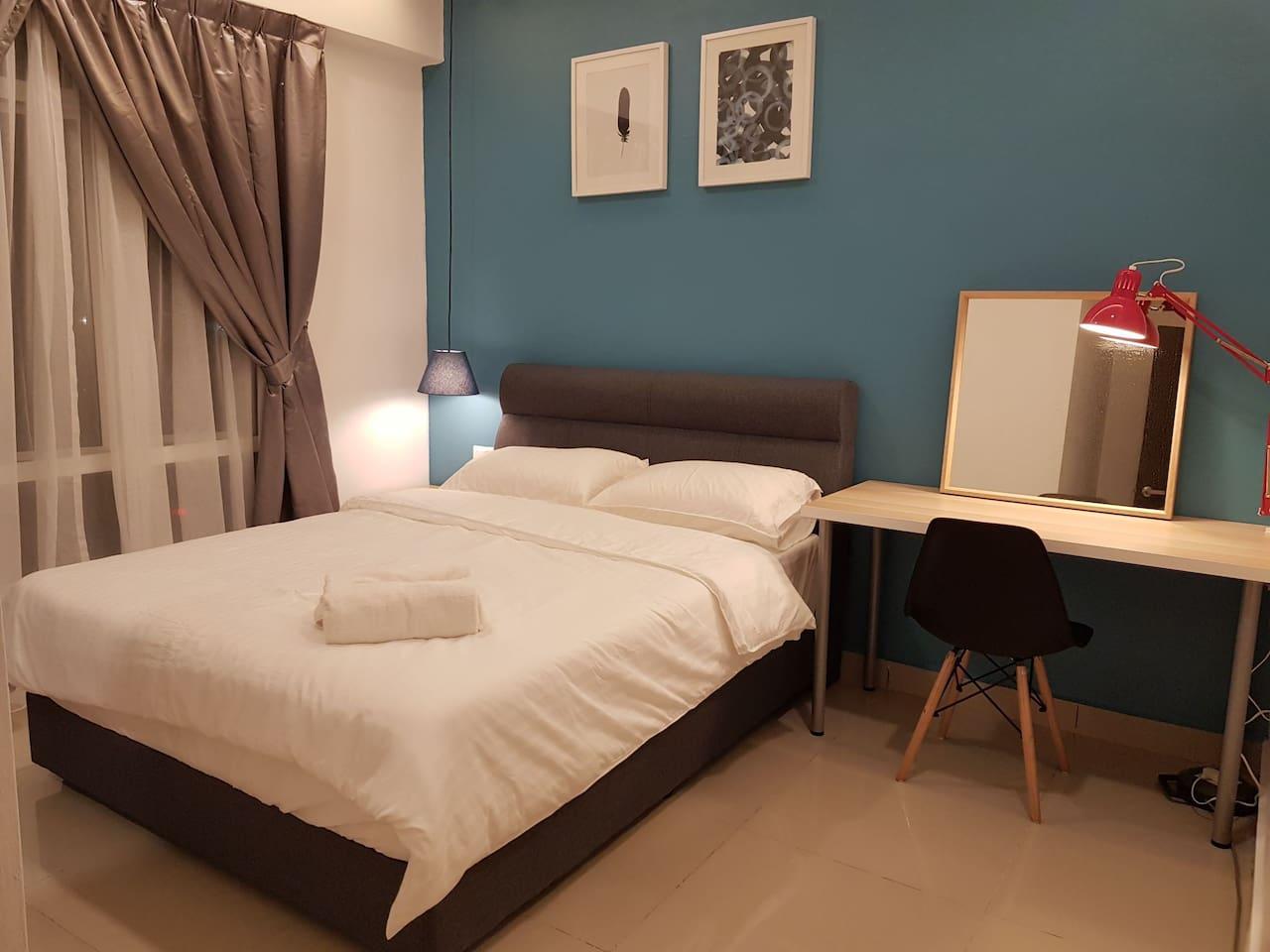 Comfortable Goodnite Queen bed master bedroom.
