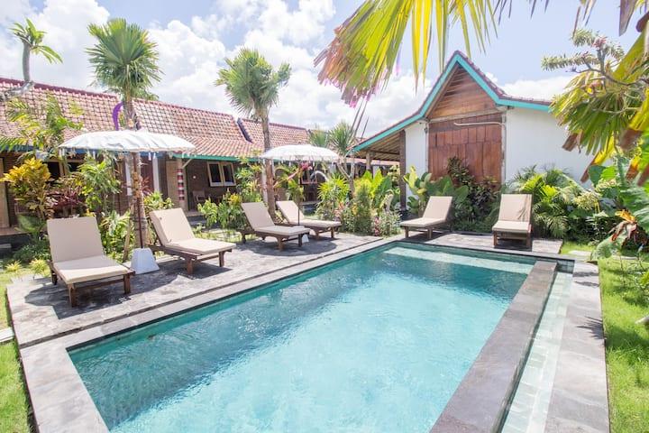 Sunny Bali Cabins in Canggu Village Fiber WiFi #D3