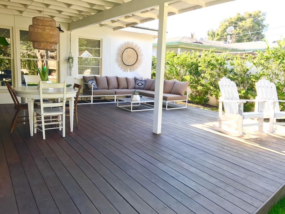 Large Ipe deck makes for another room